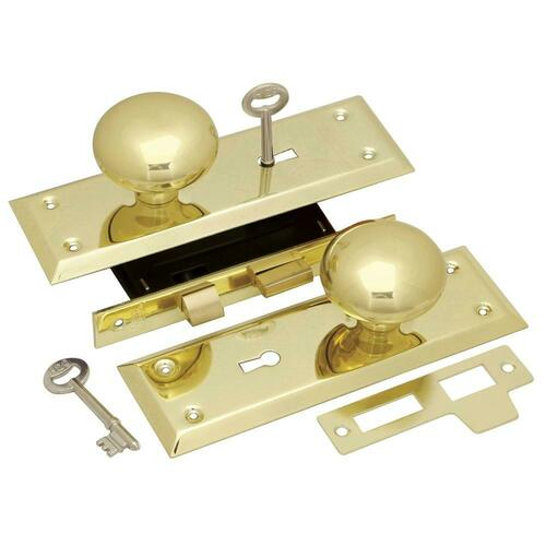 First Watch 1129 Keyed Knob Mortise Lockset, Polished Brass