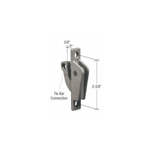 CRL EP20450 Chestnut Bronze Truth Casement Cam Lock with Tie Bar Connection
