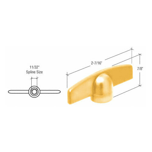 CRL EP22136 Gold T-Crank Handle with 11/32