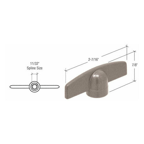 CRL EP24036 Clay T-Crank Handle with 11/32