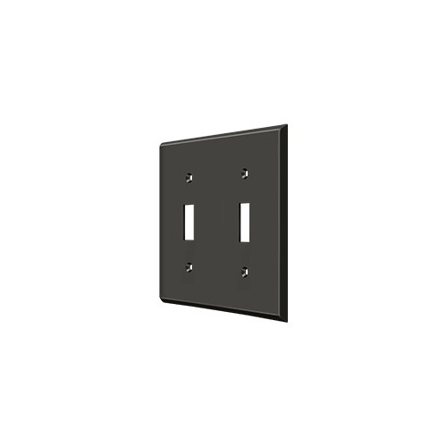 Deltana SWP4761U10B Switch Plate, Double Standard, Oil-rubbed Bronze