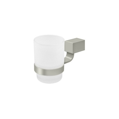 Deltana ZA2014-15 Frosted Glass Tumbler Set ZA Series, Brushed Nickel