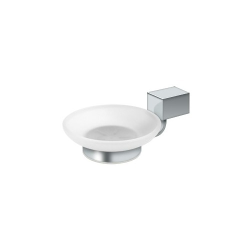 Deltana ZA2012-26 Frosted Glass Soap Dish ZA Series, Polished Chrome