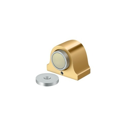 Deltana DSM125CR003 Magnetic Dome Stop, PVD Polished Brass