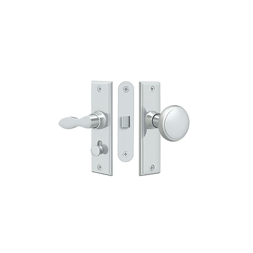 Deltana SDML334U26 Storm Door Latch, Square, Mortise Lock, Polished Chrome
