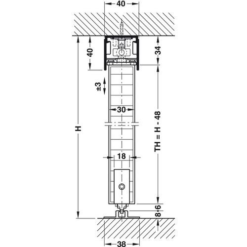Hafele 940.92.001 Sliding Door Hardware