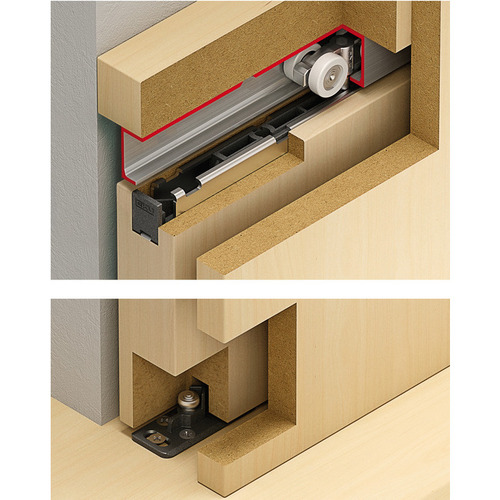 Hafele 940.60.117 Sliding Door Hardware