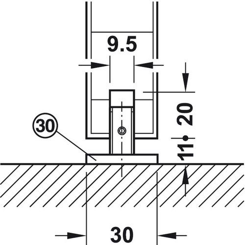 Hafele 941.02.039 Sliding Door Hardware
