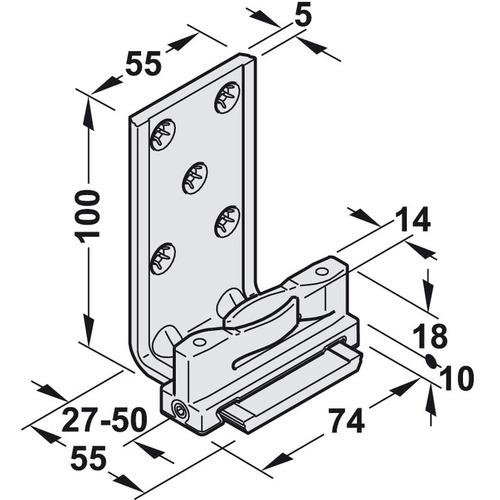 Hafele 941.60.071 Floor Guide