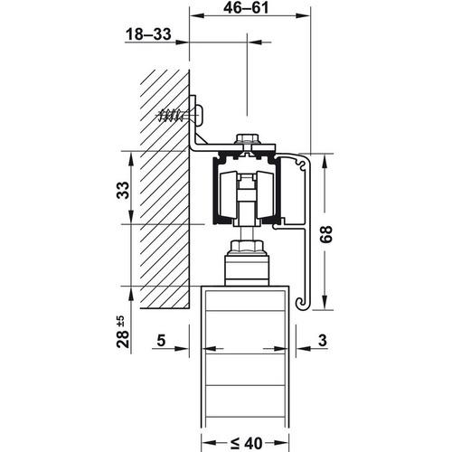 Hafele 940.43.070 Fixing Clip for Wood Fascia