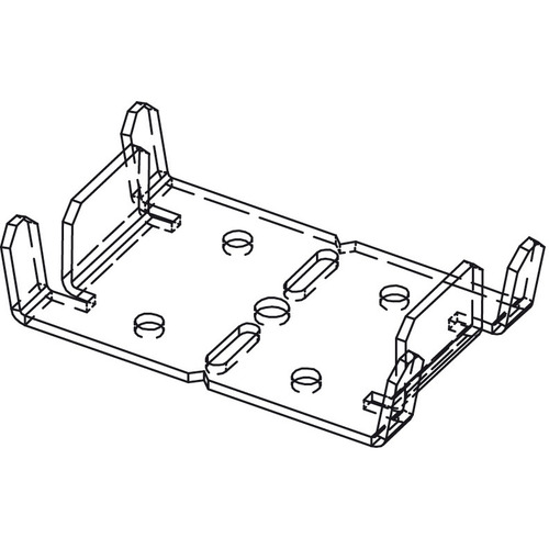 Hafele 942.72.070 Shoe Plate for Front/Back Vertical Studs