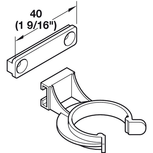 Hafele 637.38.054 Plinth Panel Clip