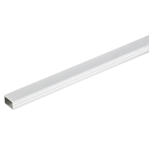 Hafele 833.71.929 Aluminum Profile with Flat Lens for Surface Mounting