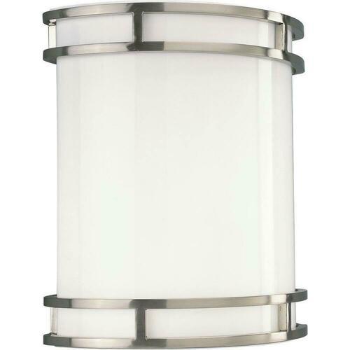 Progress Lighting P7085-0930K9 17W 1-Light LED Wall Sconce, Brushed Nickel