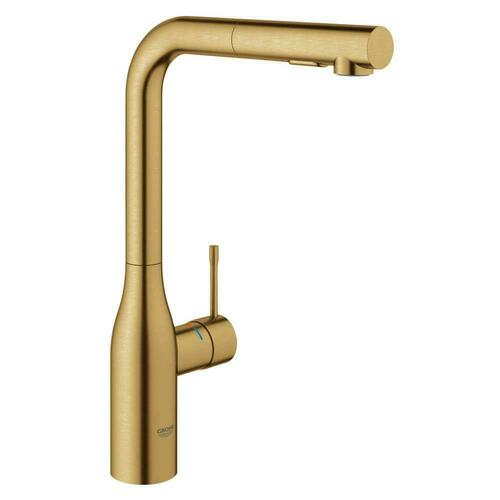 Grohe 30271GN0 Essence Single Handle Pull Out Kitchen Faucet, Brushed Cool Sunrise