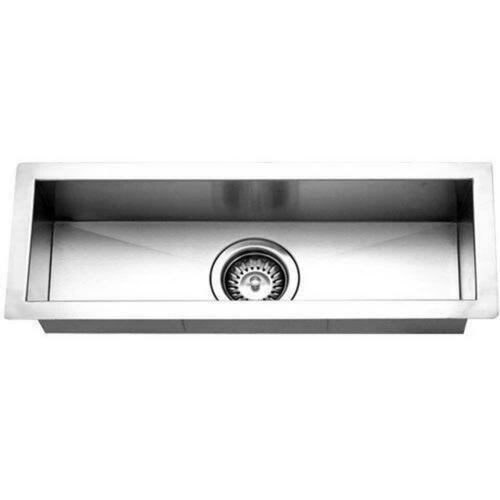 Houzer CTB-2385 Contempo Series Undermount Rectangular Bar Sink, Brushed Satin