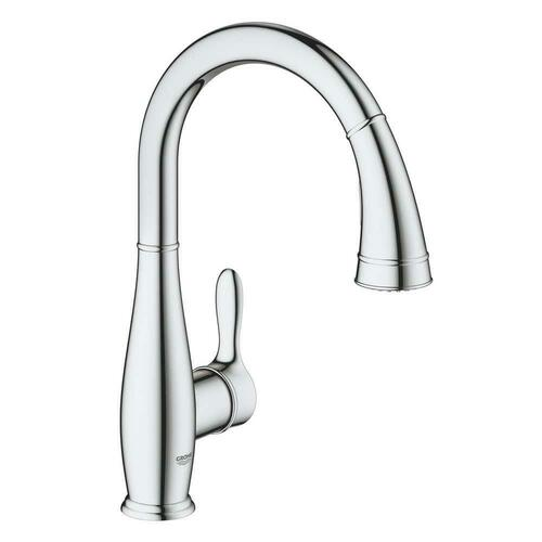 Grohe 30213001 Parkfield Single Handle Pull Down Kitchen Faucet with Two-Function Spray, StarLight Chrome