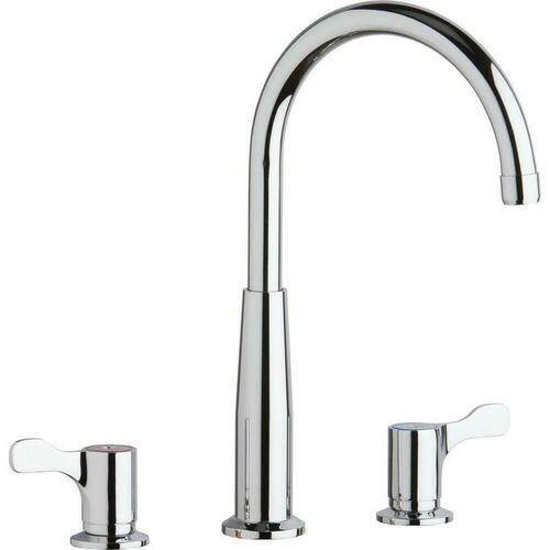 Elkay LKD232SC Two Handle Lever Deck Mount Food Service Faucet, Polished Chrome
