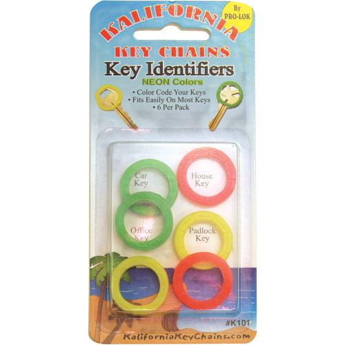 Pro-Lok K101 Key Identifier Neon Card Of 6
