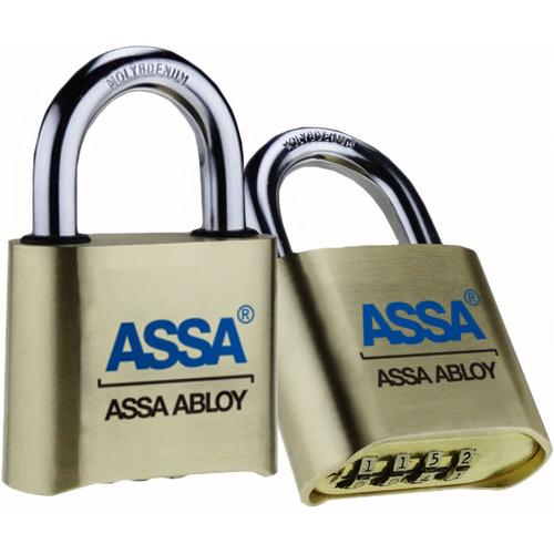 Assa Abloy SRB37D Padlock Resettable Brass Padlock Carded