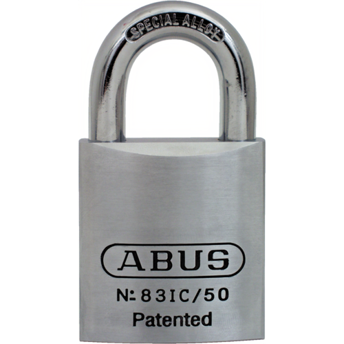 Abus 83IC/50 1IN Np Brass Padlock Sfic Less Core 2in Wide