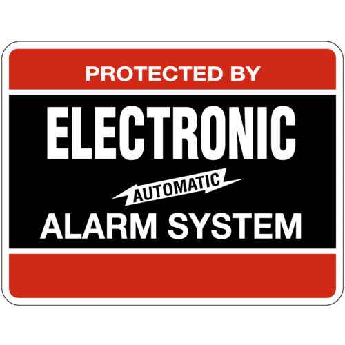 Maxwell Alarm Screen DY103 Electronic Alarm Decal 4in X 3in Blk/red