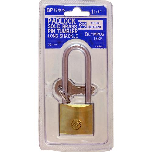 Olympus Lock BP125LSKA51 Padlock Brass 3 Keys