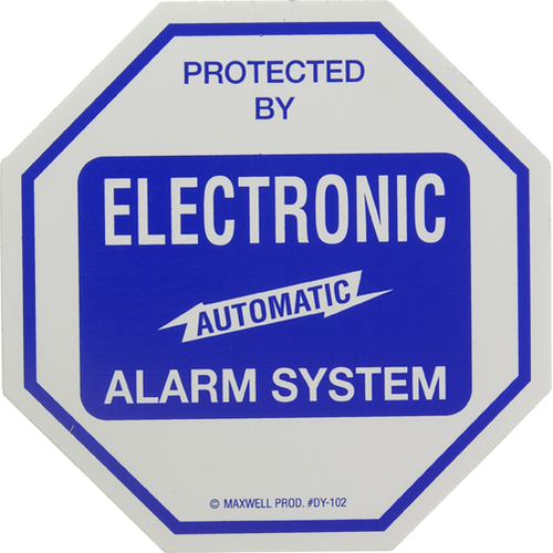 Maxwell Alarm Screen DY-102 Decal 4x4in Alarm Sys