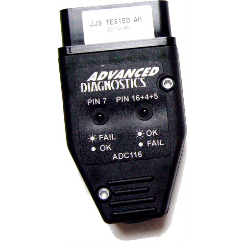 Advanced Diagnostics ADC116 Obd2 Port Test Adaptor