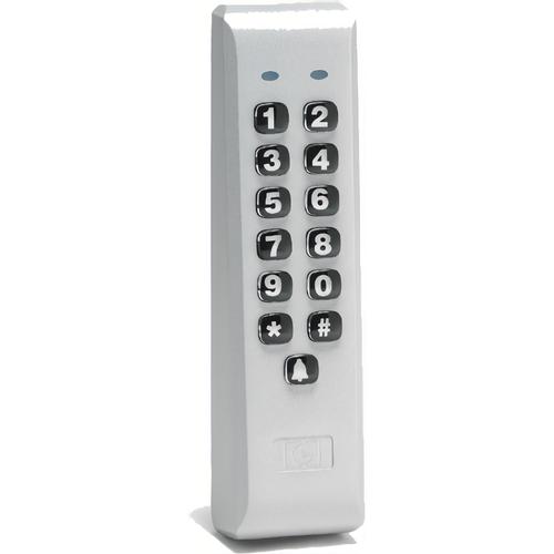 IEI 212ILM-AL Indoor / Outdoor Mullion Mounted Weather Resistant Keypad with 120 Users Aluminum Finish