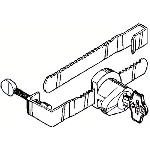 Compx MFWSG29000-KA3059 Show Case Lock 2 Bars
