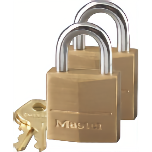 Master Lock 120T Carded Padlock Solid Brass 3/4in 2-pack