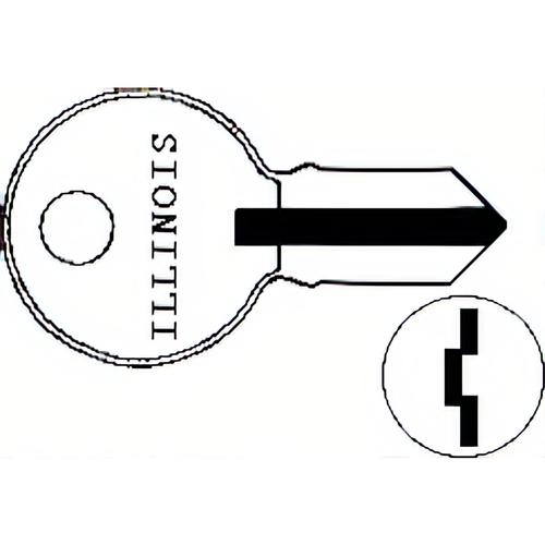 Illinois Lock 100P Illinois Key S1041h