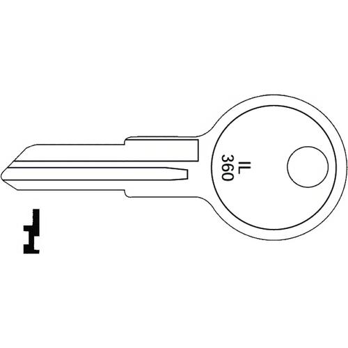Illinois Lock 360P Illinois Key 1043b