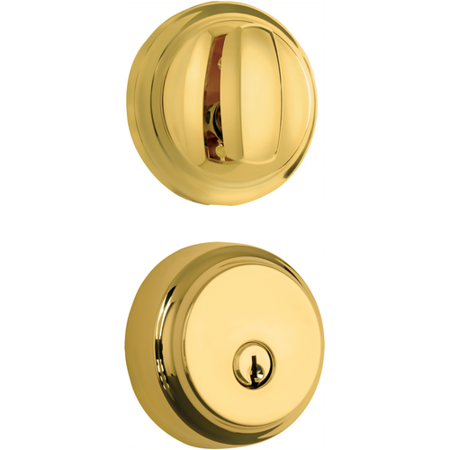 Brinks 23061-105 Almarrion Single Cylinder Deadbolt with Kwikset Keyway Polished Brass Finish