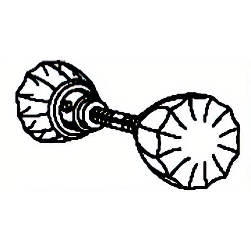 Parker Hardware 05363 Knobs & Spindle Glass
