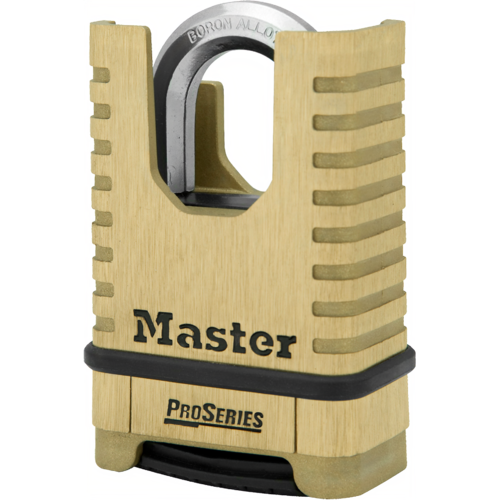 Master Lock 1177 Resettable Shrouded Brass Padlock Boxed
