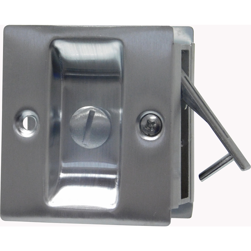 Trimco 1065.625 Privacy Pocket Door Lock Square Cutout for 1-3/8