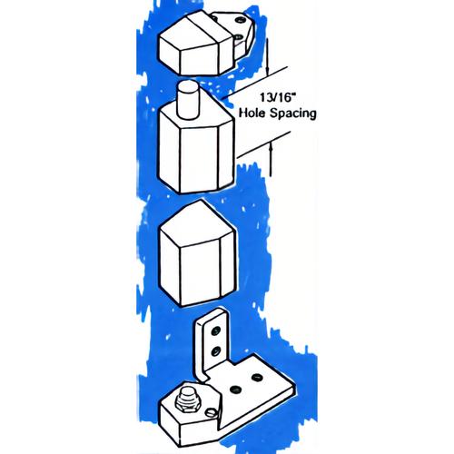 International Door Closers OP-3002DU Rh Flush Pivot Set Flush Or Recessed