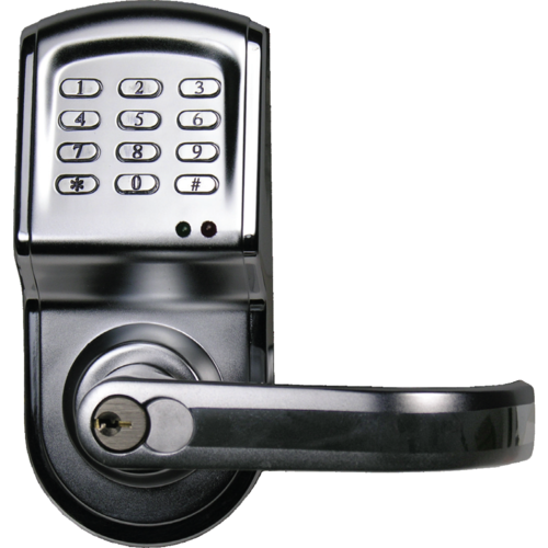 IEI 212LS-C26DCR-RT Right Hand Cylindrical Keypad Lock For Indoor / Outdoor and 120 Users Satin Chrome Finish