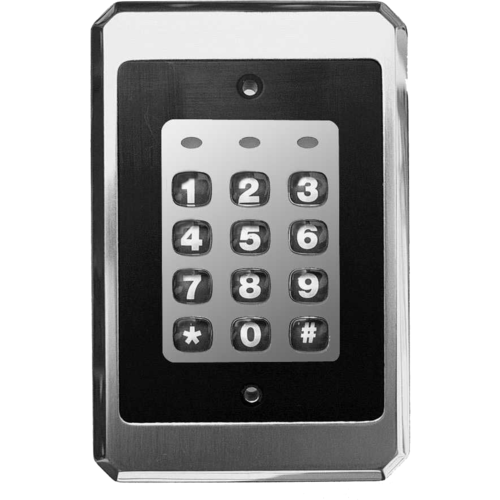 IEI 212ILW Single Gang Flush Mount Indoor / Outdoor Keypad with 120 Users Satin Stainless Steel Finish