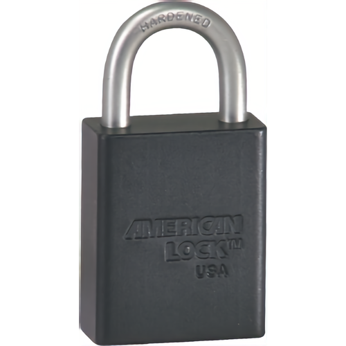 American Lock A1105KA53347 BLK Safety Padlock 1in Shackle Blk Ka