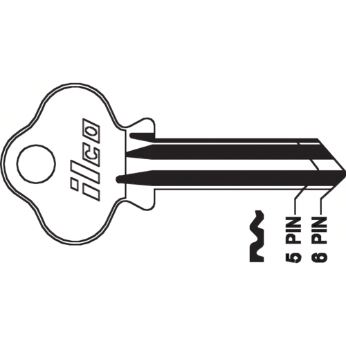 Dormakaba 1004A Key Blank