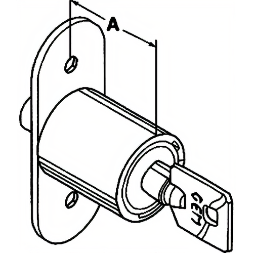 Compx SD1990-KA79 Sliding Wood Door Lock