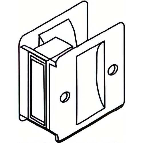 Trimco 1064626 Passage Pocket Door Lock Square Cutout Satin Chrome Finish