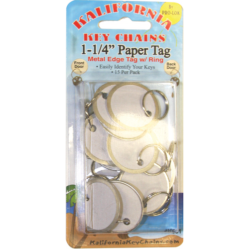 Pro-Lok K851 1-1/4in Paper Tag W/ring Card/15