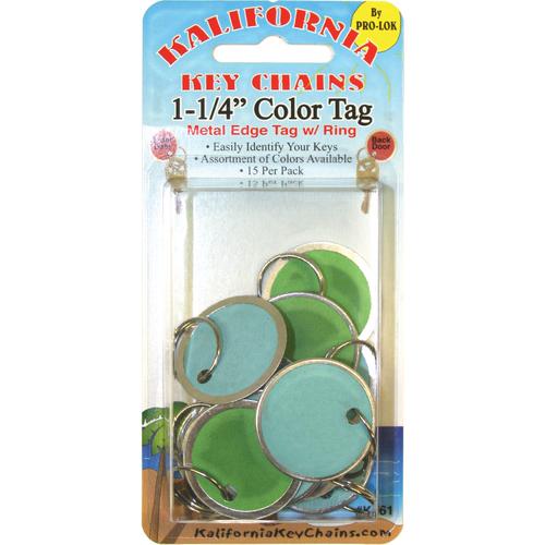Pro-Lok K861 1-1/4in Color Paper Tag W/ring