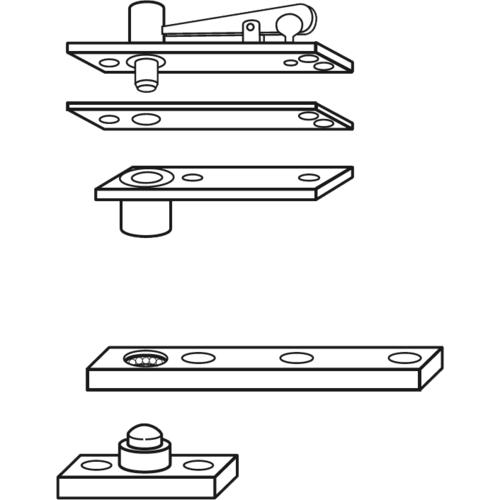 Rixson 128-3/4US26D Center Hung Pivot Set