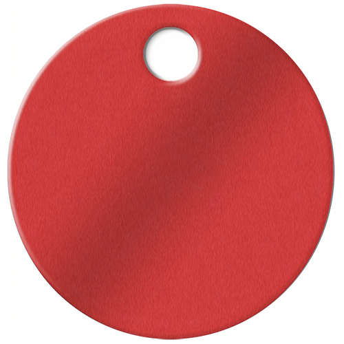 Luckyline 25670 1-1/4in Aluminum Tag Red 100/bx
