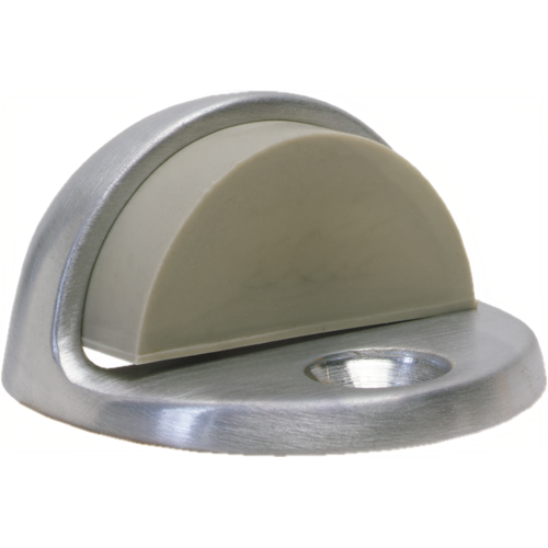 Trimco 1211.626 Cast Universal Dome Stop with Low Rise Lip and High Rise Rubber Satin Chrome Finish